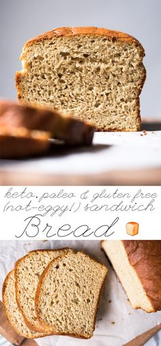 Not-Eggy Gluten Free, Paleo & Keto Bread 🍞 #keto #lowcarb #paleo #glutenfree #bread #healthyrecipes
