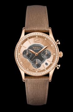 BREIL Women's Chronograph Pearl Brown Leather Strap TW1254 (Main Image)