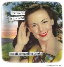 Anne Taintor - Magnets / the voices in my head are all demanding drinks