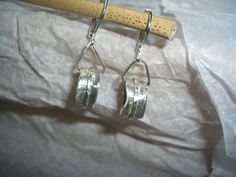 Silber Ohrringe - Dreh-Ohr-Ringe - ein Designerstück von schmuckspektakel bei DaWanda
