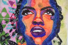Portrait of Lauryn Hill based on a photo by Marc Baptiste - 1/2