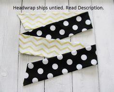 Baby Headwrap Baby Head wrap Black Baby by CollectiveCreationsC