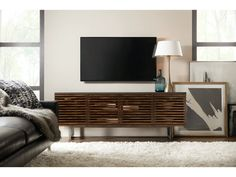 Hooker Furniture Home Entertainment Solstice 78in Entertainment Console 5657-55478-MWD Entertainment Center Furniture, Home Entertainment, Hooker Furniture, Room Planning, Particle Board, Interior Design Services, Quality Furniture, Wood Shelves, Wood Doors