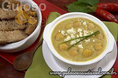Receita de Sopa de Grão-de-bico Termogênica