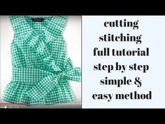 cute baby frock /top cutting stitching full tutorial in easy step Girls Dresses Sewing, Sewing Baby Clothes, Cool Baby Clothes, Baby Dresses, Baby Girl Dress Patterns, Baby Clothes Patterns, Dress Sewing Patterns, Baby Frocks Party Wear, Baby Girl Frocks