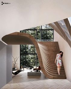 impressive staircase design inspirations for your house 19 Architecture Design, Amazing Architecture, Staircase Architecture, Architecture Colleges, Natural Architecture, Architecture Awards, Architecture Interiors, Building Architecture, Interior Design Inspiration