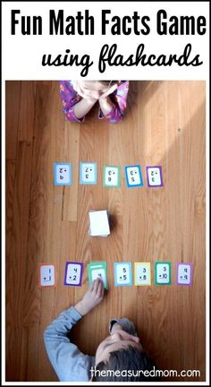 We love this addition game using flash cards - simple to play, but lots of math practice! We think flash cards games are much more fun than than drill sessions.