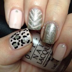 The trick to making this nail-design look work is keeping the colors simple and consistent. #NailArt #Nails