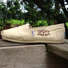 Monogrammed TOMS - family take note ...Christmas is coming the goose is getting fat.