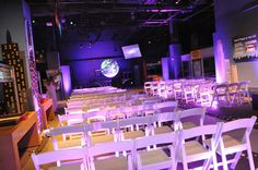 Orlando Science Center Wedding with Junction 88 Productions Lighting. Beautiful!