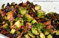 Loving Life: Pan-Fried Brussel Sprouts with Bacon Pan Fried Brussel Sprouts, Cooking Brussel Sprouts, Roasted Sprouts, Brussels Sprouts, Bacon Recipes, Vegetable Recipes, Cooking Recipes, Healthy Recipes, Keto Recipes