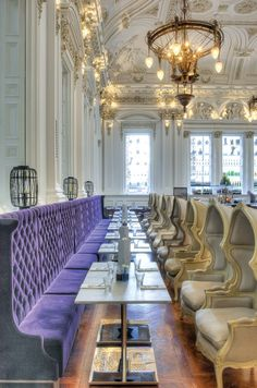 The Corinthian Club in Glasgow. Originally built in 1842 as the Glasgow Ship Bank. Re-designed by Graven Images