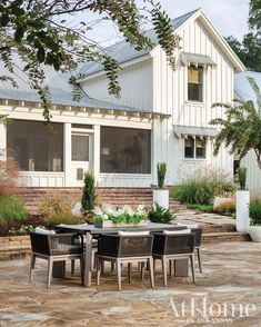 Outdoor Living Areas, Outdoor Dining, Living Spaces, Outdoor Decor, Flagstone Flooring, Backyard, Patio, Iron Doors, The Great Outdoors