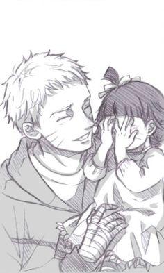 Uzumaki Naruto and Uzumaki Himawari.