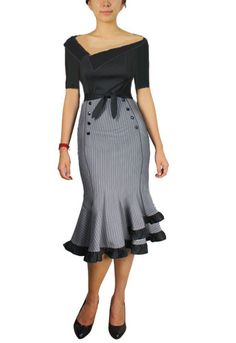 Blueberry Hill Fashions : Plus Size Women's Fashion Designs- looking at the skirt style. Pretty Outfits, Pretty Dresses, Beautiful Outfits, Cute Outfits, Rockabilly Fashion, Retro Fashion, Vintage Fashion, Womens Fashion, Rockabilly Dresses