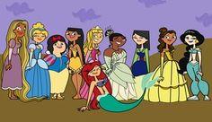 Total Drama Disney Princesses my fav character as my fav princess (Courtney as bell)
