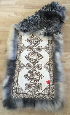 Sheepskin rug for a chair