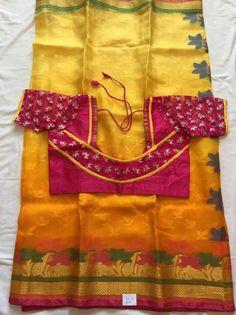 Super Latest Saree Blouse, Pattu Saree Blouse Designs, Blouse Designs Silk, Designer Blouse Patterns, Patch Work Blouse Designs, Simple Blouse Designs, Stylish Blouse Design, Chudidhar Neck Designs, Sarees