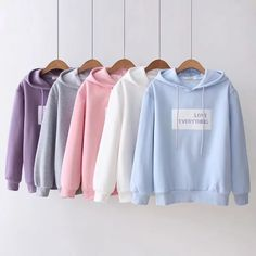 Áo hoodie love everything - sakurafashion. Cute Comfy Outfits, Edgy Outfits, Cool Outfits, Girls Fashion Clothes, Teen Fashion Outfits, Kawaii Fashion, Cute Fashion, Stylish Hoodies, Clothing Photography