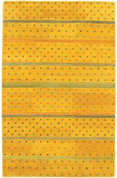 Oasis Rainbow 6648/0028 Gold Burst Rug from the Gabbeh Rugs Collection collection at Modern Area Rugs