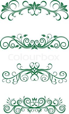 Stock vector of 'Vintage floral decorations isolated on white for design'