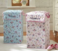 I love the Girls' Canvas Collapsible Hamper on potterybarnkids.com
