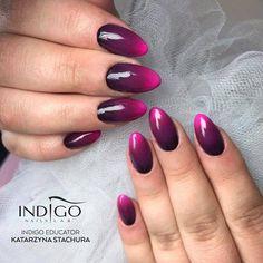 Arte Brillante Glam Plum, Pink Elephant, Tarantula + Lady Lion Gel Polish by Kasia Stachura, Indigo Educator #nails #nail #nailsart #indigonails #indigo #hotnails #summernails #springnails #ombre #ombrenails #pinknails