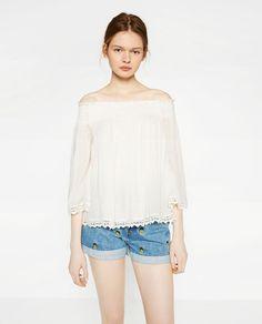 Imagem 2 de TOP COM DECOTE NOS OMBROS da Zara