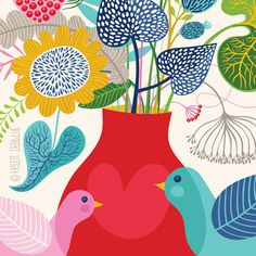 Botanical Romance... limited edition giclee print by helendardik