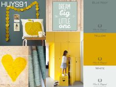 pure and original geel Baby Bedroom, Baby Boy Rooms, Casa Kids, Baby Co, Nursery Inspiration, Kidsroom, Wall Colors, Yellow Walls, Images