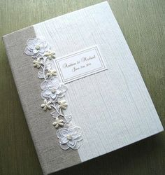 Personaliized Handmade Wedding Photo Album Natural by Daisyblu, $85.00