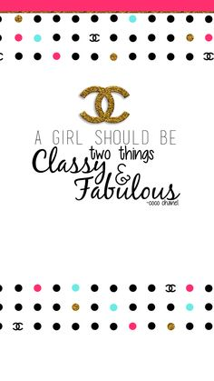 Cute FREE chanel phone wallpapers. Gold glitter girly and FREE!