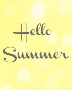 """""""Hello Summer,"""" Free Printable to frame and put up for some cheery décor! - Fantabulosity"""