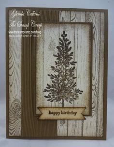 Lovely As a Tree - Hardwood by Glenda Calkins - Cards and Paper Crafts at Splitcoaststampers