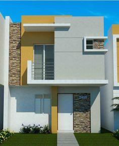 Home design plans exterior colors 60 best ideas Modern House Facades, Modern House Plans, Modern Architecture, House Paint Exterior, Exterior House Colors, House Front Design, Modern House Design, Facade Design, Exterior Design