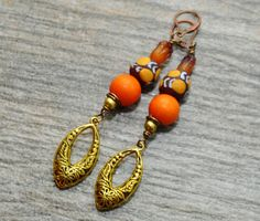 Africa Jewelry Tribal Earrings Boho Tribal  by ZenCustomJewelry