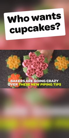 See why people are going nuts over these CakeLove tips. See why people are going nuts over these CakeLove tips. Cupcake Frosting Tips, Icing Tips, Cupcake Cakes, Cake Decorating Videos, Cake Decorating Techniques, Decorating Tools, Wedding Cakes With Cupcakes, Cool Wedding Cakes, Lebkuchen Cupcakes