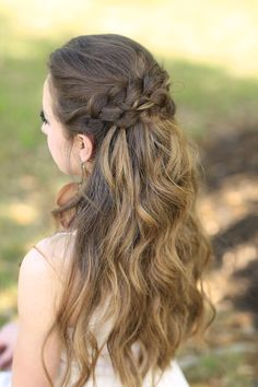 Braided Half Up by Cute Girls Hairstyles. Such a great style for a fancy event!