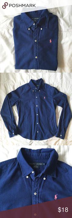 Polo Ralph Lauren Oxford Royal blue Polo Ralph Lauren Oxford Slim Fit. Size 4; excellent condition! Polo by Ralph Lauren Tops Button Down Shirts