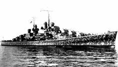 Le croiseur léger USS Juneau CL-52 au port de New York, aux États-Unis, le 11 février 1942.