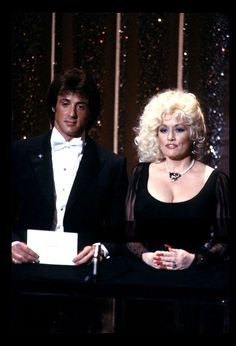 Dolly Parton and Sylvester Stallone (April 9, 1984)