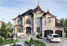 Luxury House Plans, Luxury Homes Dream Houses, Dream House Plans, Dream Homes, Mansion Homes, Dream Mansion, Modern Exterior, Exterior Design, Luxury Homes Exterior