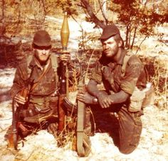 32 Battalion soldiers with AKM's and RPG-7 Military Gear, Military History, Defence Force, Modern Warfare, Special Forces, Cold War, Art Reference, South Africa, Army