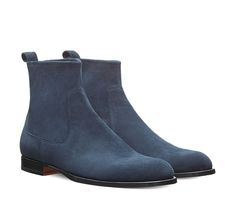 Nino Ankle boots in stretch suede goatskin with leather sole