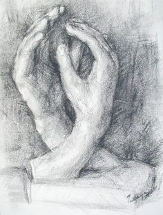 Sculpture Art, Sculptures, Auguste Rodin, Hand Sketch, Hand Shapes, Gravure, Charcoal Drawings, Sketches, Watercolor