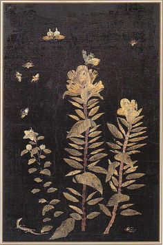 (Korea) Embroidery folding screens by Shin Saimdang (1504- 1551). Donga…
