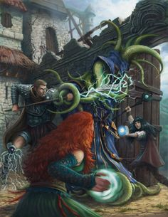 Cover Illustration for Dreamscarred Press,  'Psionics Unleashed' by Joe Shawcross