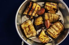 5 Best Vegetarian Party Nibbles And Canapes Idea Roast Eggplant, Grilled Eggplant, Eggplant Rolls, Stuffed Eggplant, Nibbles For Party, Zucchini Pizza Bites, Healthy Grilling, Grilled Vegetables, Brain Food