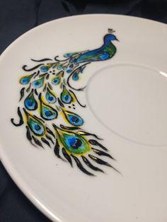 peacock I Cup, Peacock, Plates, Tableware, Christmas, Handmade, Mugs, Licence Plates, Xmas