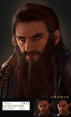 "Previous pinner said: ""This is definitely what Thorin SHOULD HAVE looked like!""  I have to agree. I was sad when I saw that sorry excuse for a dwarf beard ;( But I still love you Richard!!!!!!!!!!!"